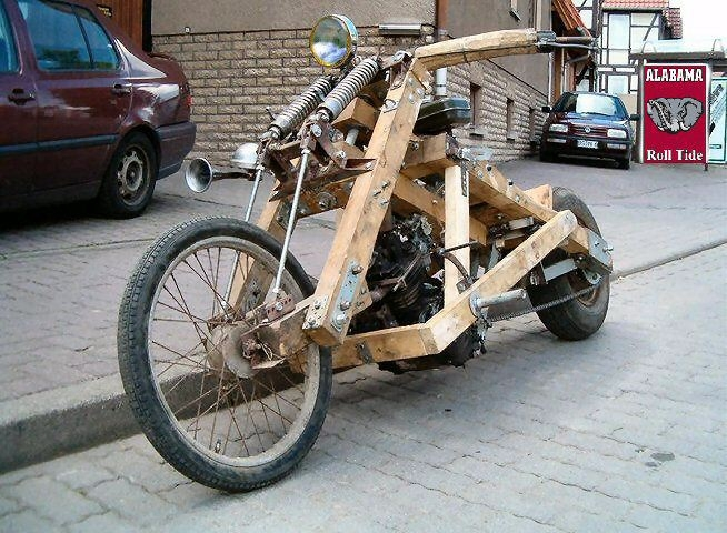 So you want to build a chopper but you can't weld?  No problem.